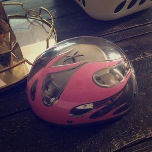 Harley Davidson women's pink helmet small flames